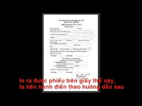 video Huong dan dang ki xet tuyen dai hoc, cao dang 2016
