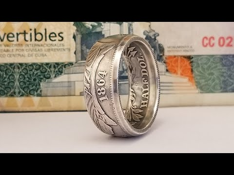 Making An 1864 Half Dollar Coin Ring And GIVEAWAY