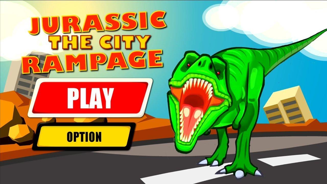 Jurassic Dinosaur City Rampage Android Gameplay T-Rex