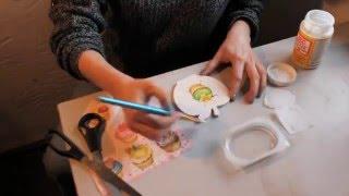 Декупаж для начинающих урок №2 как наклеить салфетку без складок в декупаже - 3 метода