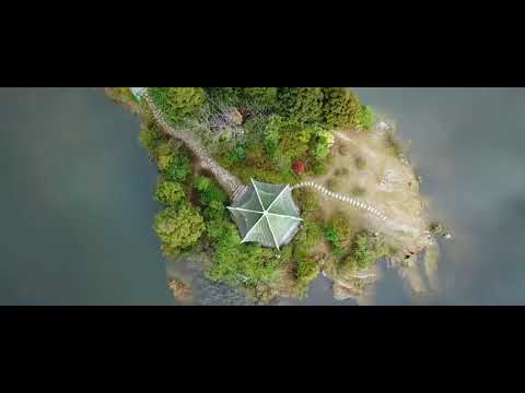 Aerial view of jinhua lake in zhejiang province scenery photography natural video background