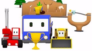 Zakres fotografowania Paintball - Z Małymi Samochodzikami: buldożer, dźwig, koparka, bajka edukacyjn