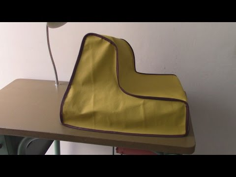 A Cover in Leather for a Skiving Machine -Sample II - Leather Upholstery