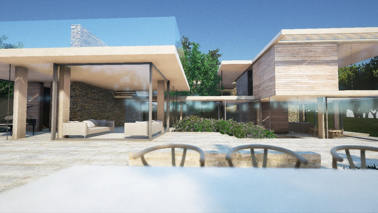 How I made this easy Archviz UE4 Exterior  Modelled in 3DSmax and exported  to Unreal ENgine