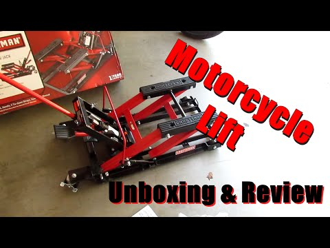 Craftsman Motorcycle Lift  Unboxing and Review