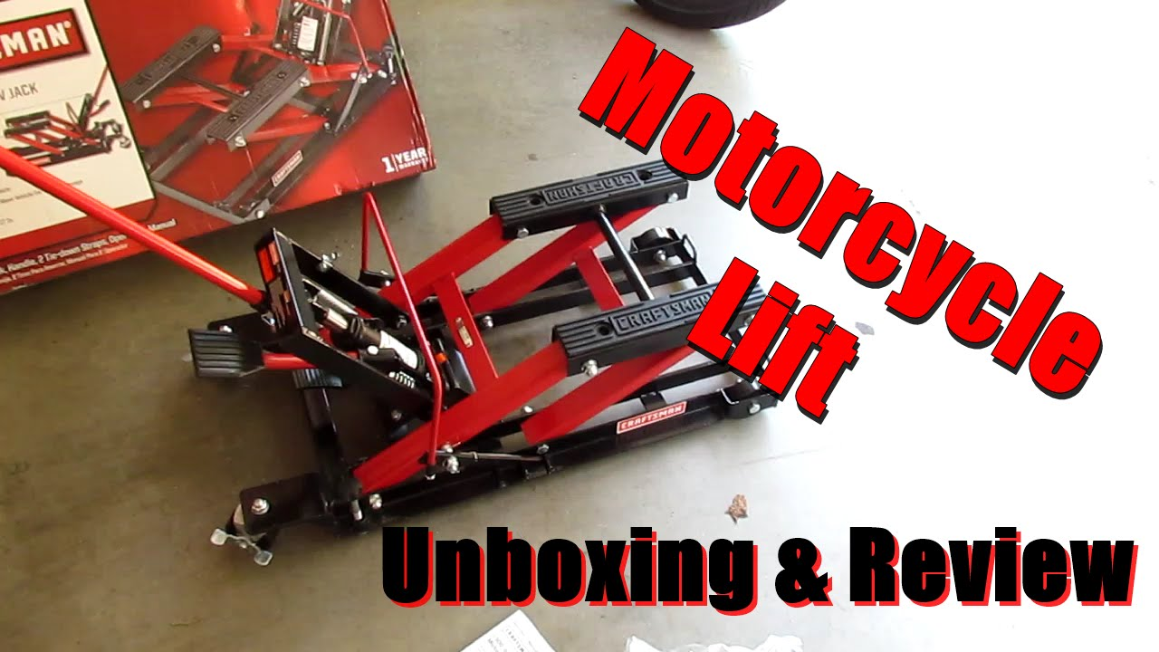 Sears Craftsman Motorcycle : Craftsman motorcycle lift unboxing and review doovi