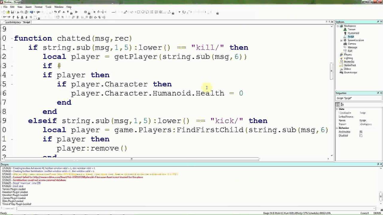 Roblox Lua Tutorials - 21: Shortening names in admin commands