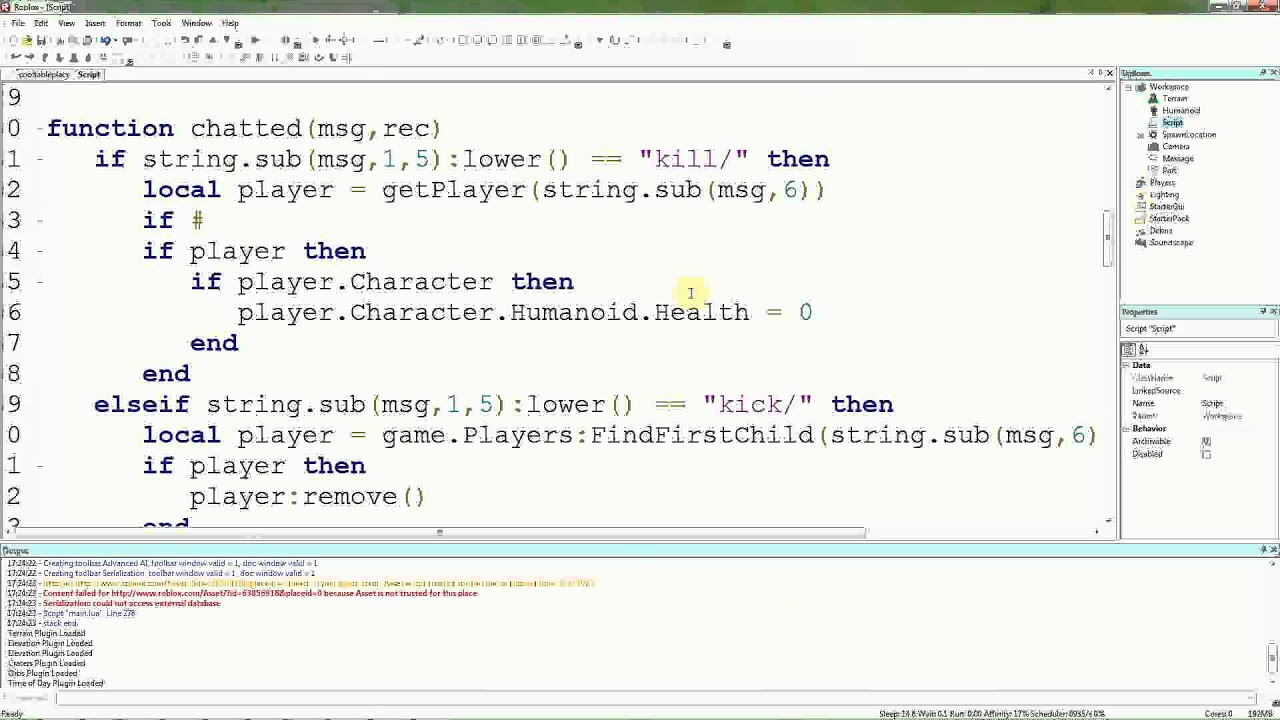 Roblox lua tutorials 21 shortening names in admin commands roblox lua tutorials 21 shortening names in admin commands baditri Gallery