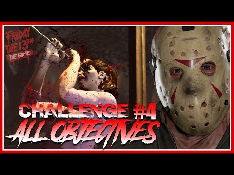 Single Player Challenge #4 | HARPOON!! | ALL OBJECTIVES COMPLETE | Friday the 13th: The Game