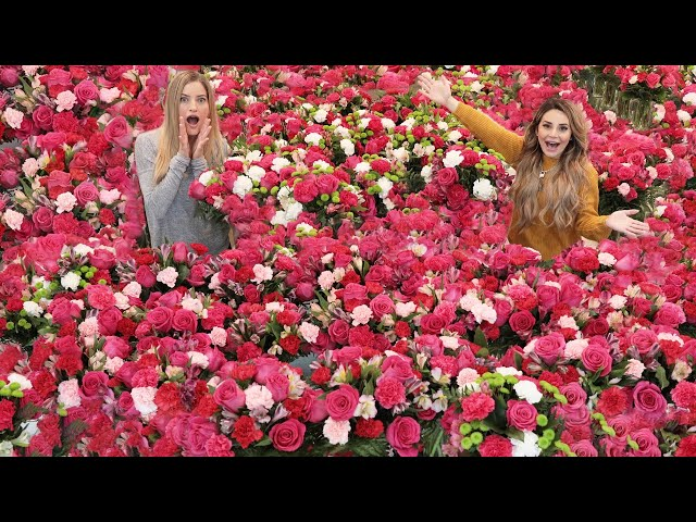 Surprising My Friend With 1000's of Flowers For Her Birthday! - Rosanna Pansino