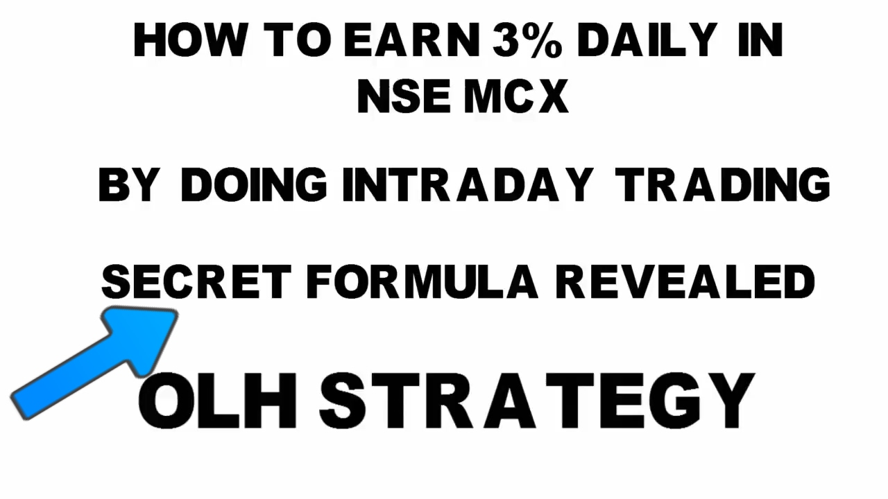 3% Profit Live Trading By Using OHL Strategy and trick for Intraday NSE  trading
