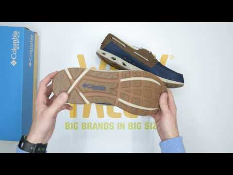 Columbia Bonehead Vent Leather PFG - Navy / Stone - Unboxing | Walktall