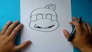 Como dibujar a las tortugas ninja paso a paso | How to draw teenage mutant ninja turtles