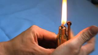 Обзор бензиновой зажигалки своими руками. The petrol lighter.