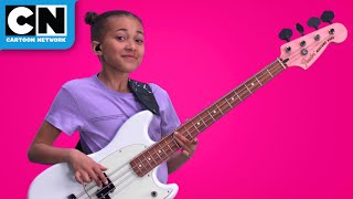 Nandi Bushell - First EVER Musician in residence at Cartoon Network - Jamming with Teen Titans GO!