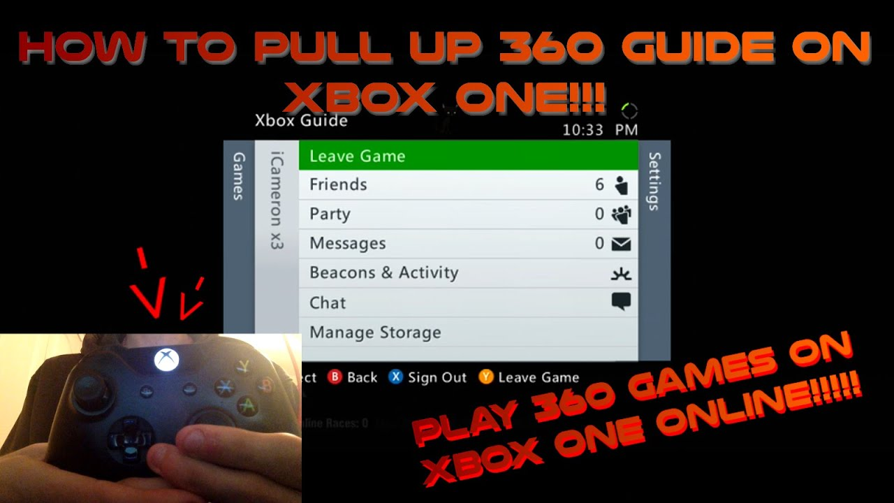 how to pull up the xbox 360 guide on xboxone how to invite rh youtube com Xbox One Guide xbox one games parental guide