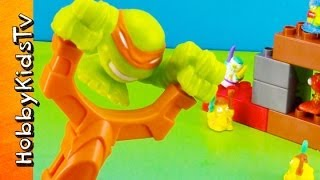 Teenage Mutant Ninja Turtles SLINGSHOT! Lego Trashpack TMNT Mashems Duplo by HobbyKidsTV