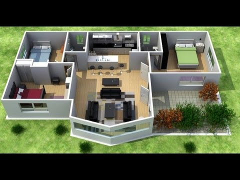 Planos de casas de campo en 3d youtube for Software decoracion interiores 3d gratis