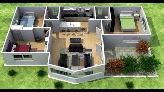 planos de casas de campo en 3d