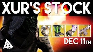 Destiny Xur December 11th - Xur's Location & Stat Roll Suggestions | Destiny The Taken King Exotics