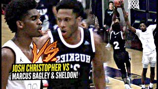Josh Christopher & Marcus Bagley FACE OFF w/ Shareef O'Neal Watching On MLK Day! Mayfair vs Sheldon!