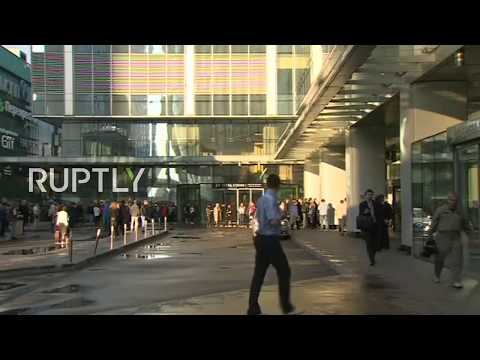 LIVE from Moscow City after skyscraper evacuated due to 'suspicious object'