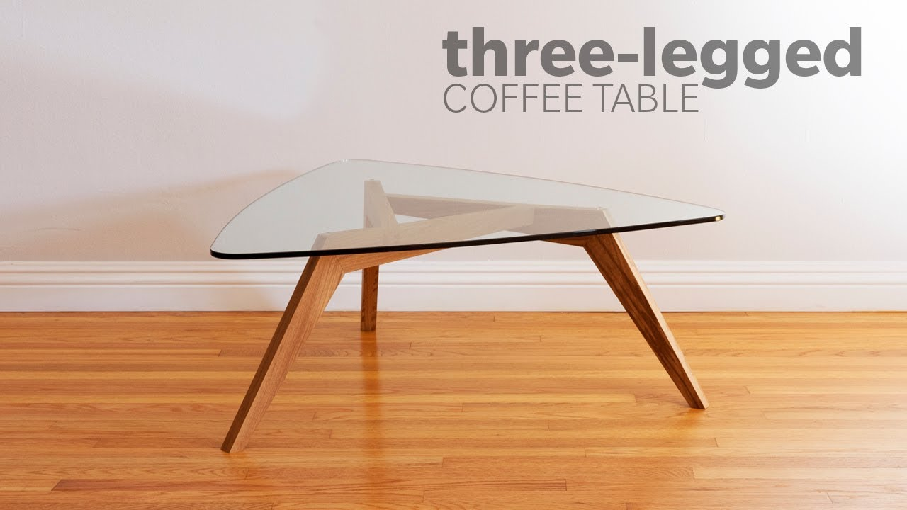 How To Build A Mid Century Modern Coffee Table With 3 legs ...