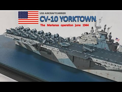 US NAVY AircraftCarrier CV-10 YORKTOWN1944