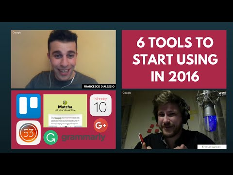 6 Tools to start using in 2016 (Short Edition)