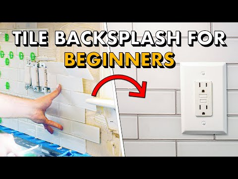 How To Install Subway Tile 🛠 Installing TILE BACKSPLASH for the FIRST TIME