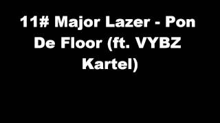 11# Major Lazer - Pon De Floor (ft. VYBZ Kartel)