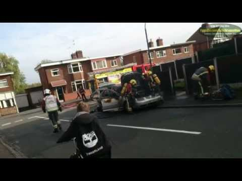 Car on fire while on the school run