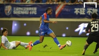 Drogba scores first goals for Shanghai Shenhua