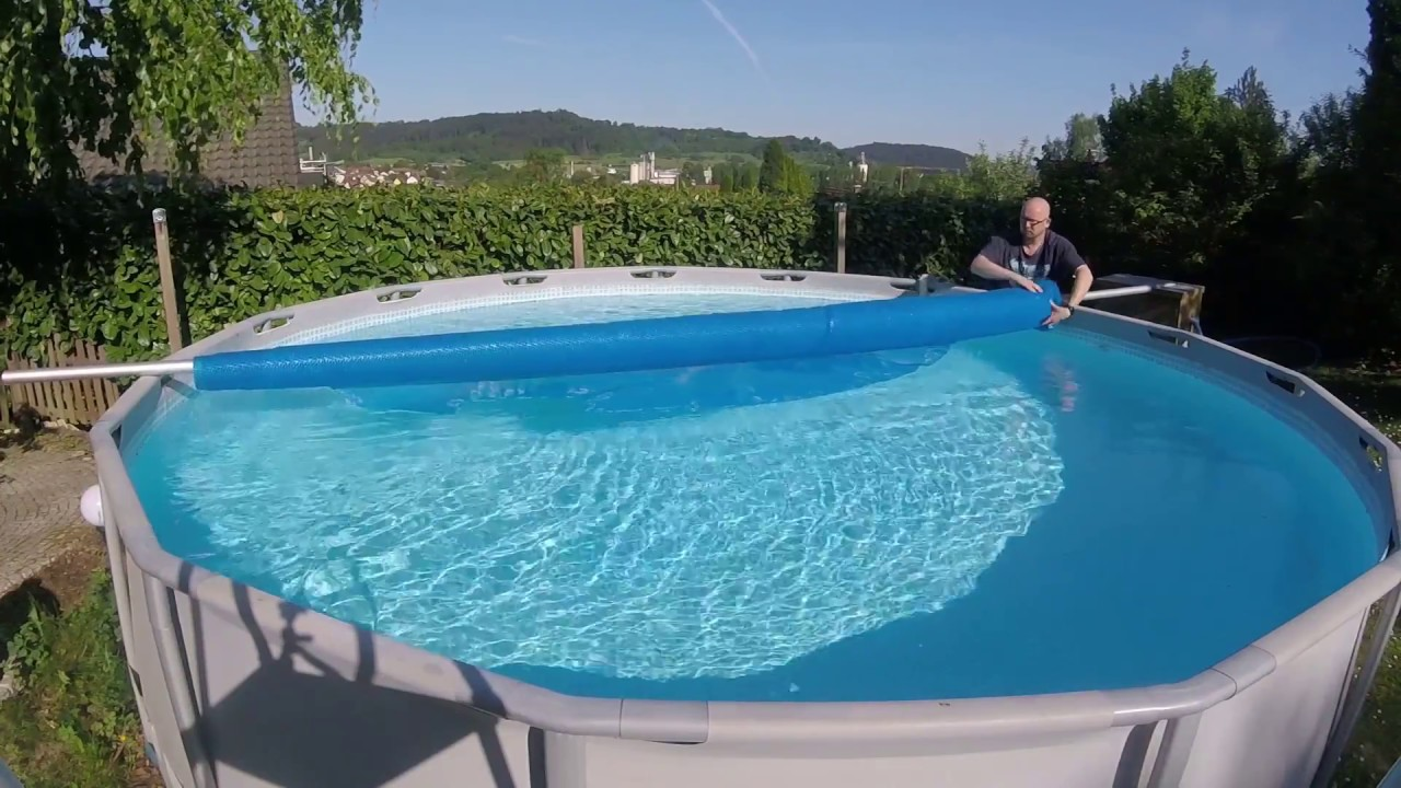 Solarplane Pool Intex Do It Yourself Solarfolien Aufrollvorrichtung Für Den Aufstellpool