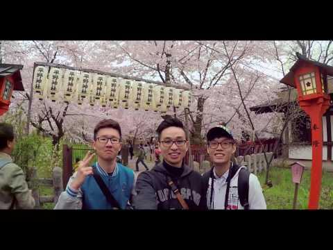 Vlog |Japan Travel 2017 | Kyoto Osaka Tokyo |  YI4K Action Camera