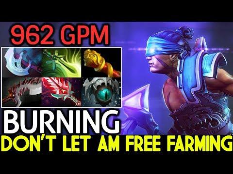 Burning [Anti Mage] Don't Let AM Free Farming 22 Kills Epic Gameplay 7.21 Dota 2