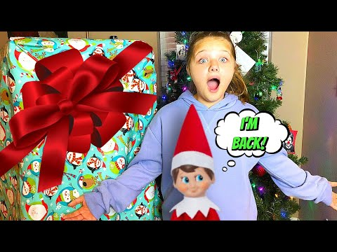 HUGE PRESENT FROM THE ELF ON THE SHELF! The ELF ON THE SHELF IS BACK!!