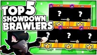 The Top 5 BEST Brawlers For Showdown! - New Meta Brawler Rankings! - Brawl Stars