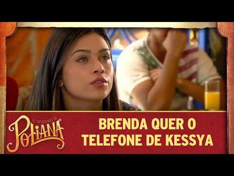 Brenda pede a Jeferson o telefone de Kessya | As Aventuras de Poliana