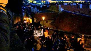Protest proti smlouvě ACTA - 2. 2. 2012 Praha
