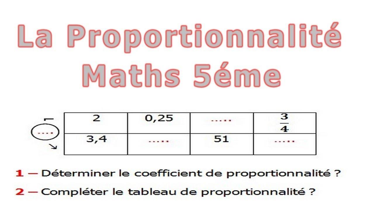 Maths 5ème - La proportionnalité Exercice 20 - YouTube