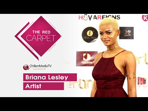 Briana Lesley on The Red Carpet CMTV | Kamer Link Magazine Launching Buea