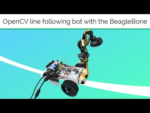 Line Follower Robot using openCV with the BeagleBone