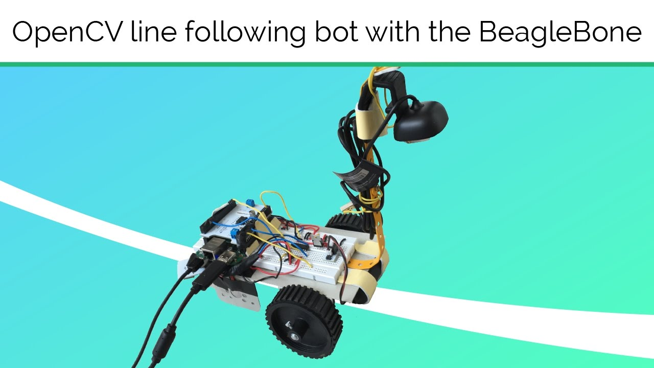 BeagleBone openCV Line Following Robot