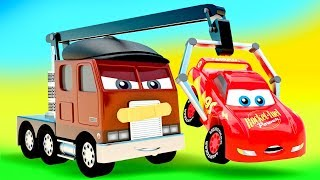 Download Little Cars Stories Color Track in Cars City. New Truck with Crane Machine Hand Mp3 and Videos