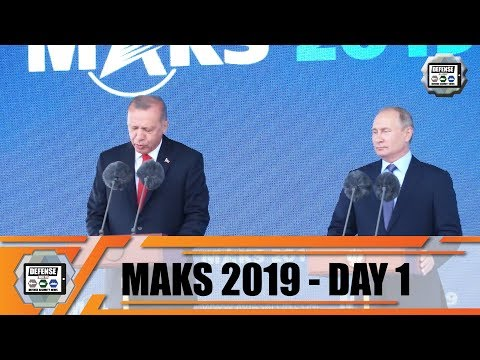 MAKS 2019  International Defense Aviation Air Show Space Salon Zhukovsky Moscow Region Russia Day 1