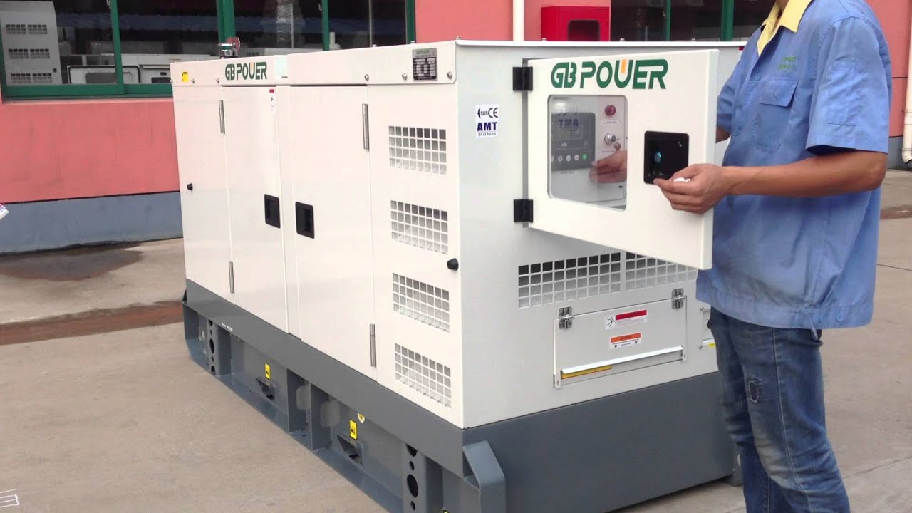 SUPER SILENT TYPE DIESEL GENERATOR SET 50KVA NOISE LEVEL TEST 1