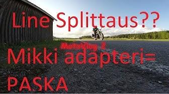 MotoVlog #2 | LANE SPLITTAUS JA PASKA MIKKI ADAPTERI