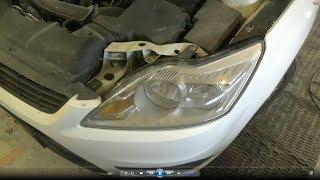Как снять передние фары и поменять все лампы. Ford Focus II рестайлинг.