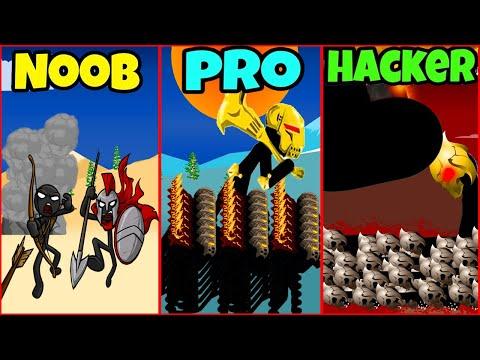 STICK WAR LEGACY - NOOB VS PRO VS HACKER   Thủ thuật hack hay 1